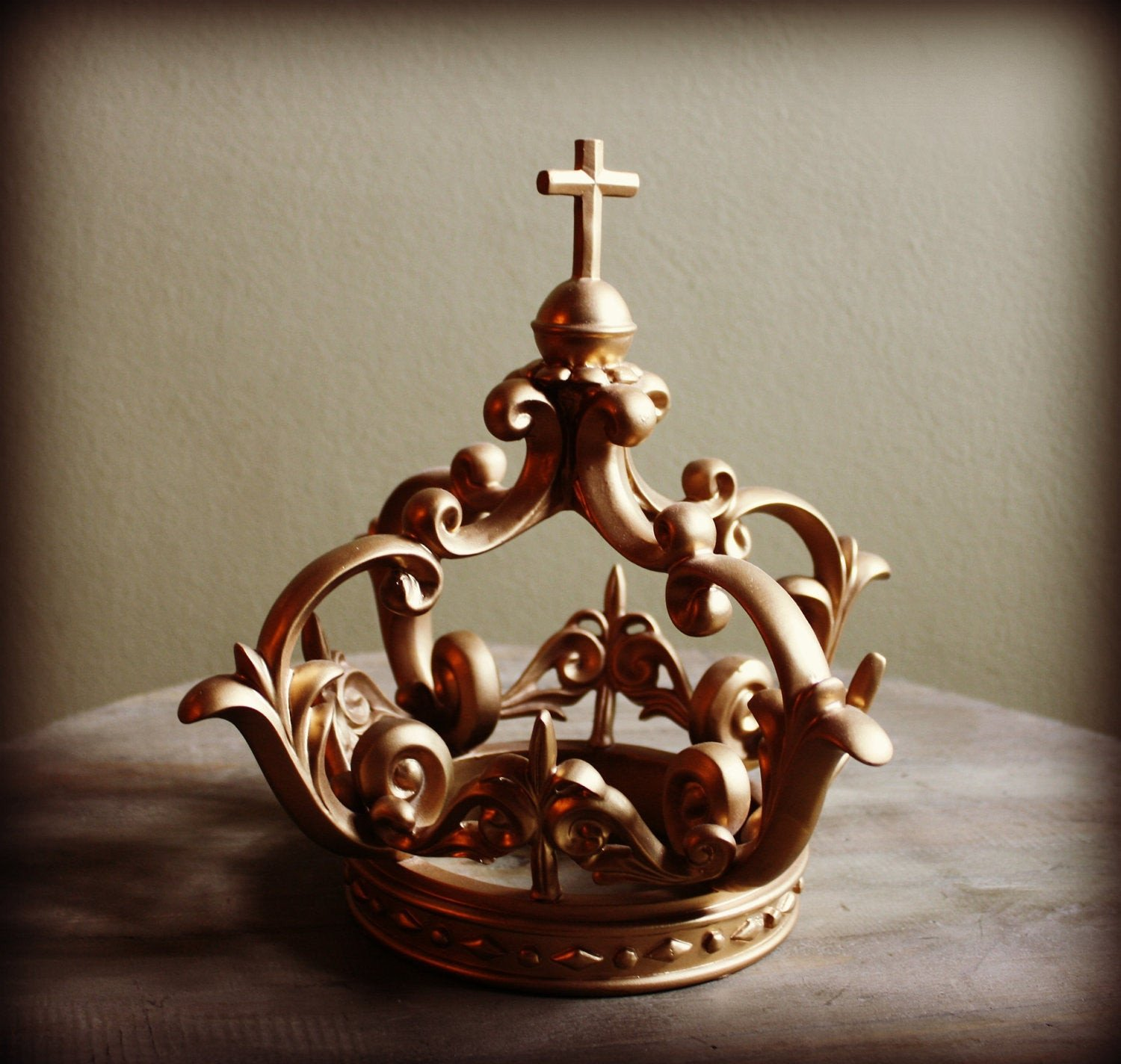 Decorative Crowns for Home Decor Beautiful Gold Crown Home Decor Shabby French Decor by theprincesprops