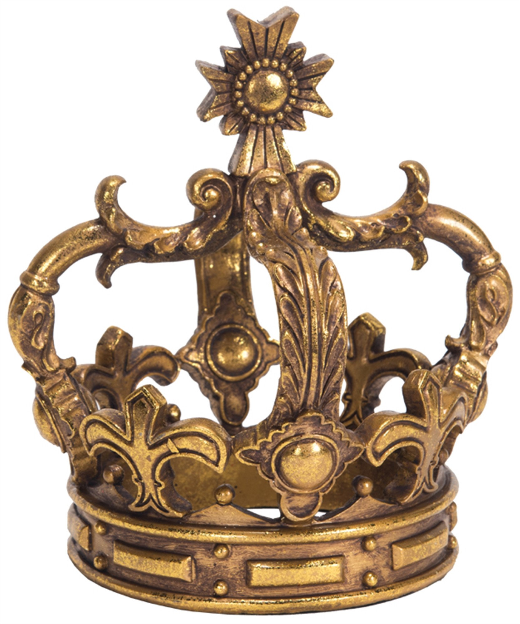 Decorative Crowns for Home Decor Best Of Antique Gold Tabletop Crown with Aged Golden Finish ornate Decorative Metal Centerpiece