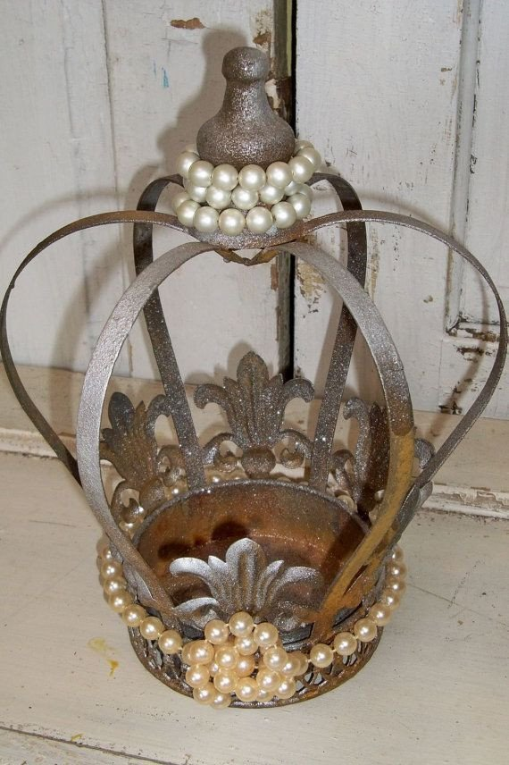 Decorative Crowns for Home Decor Fresh Decorative Metal Crown Painted Shimmer Bronze Accented Pearls Home Decor Anita Spero