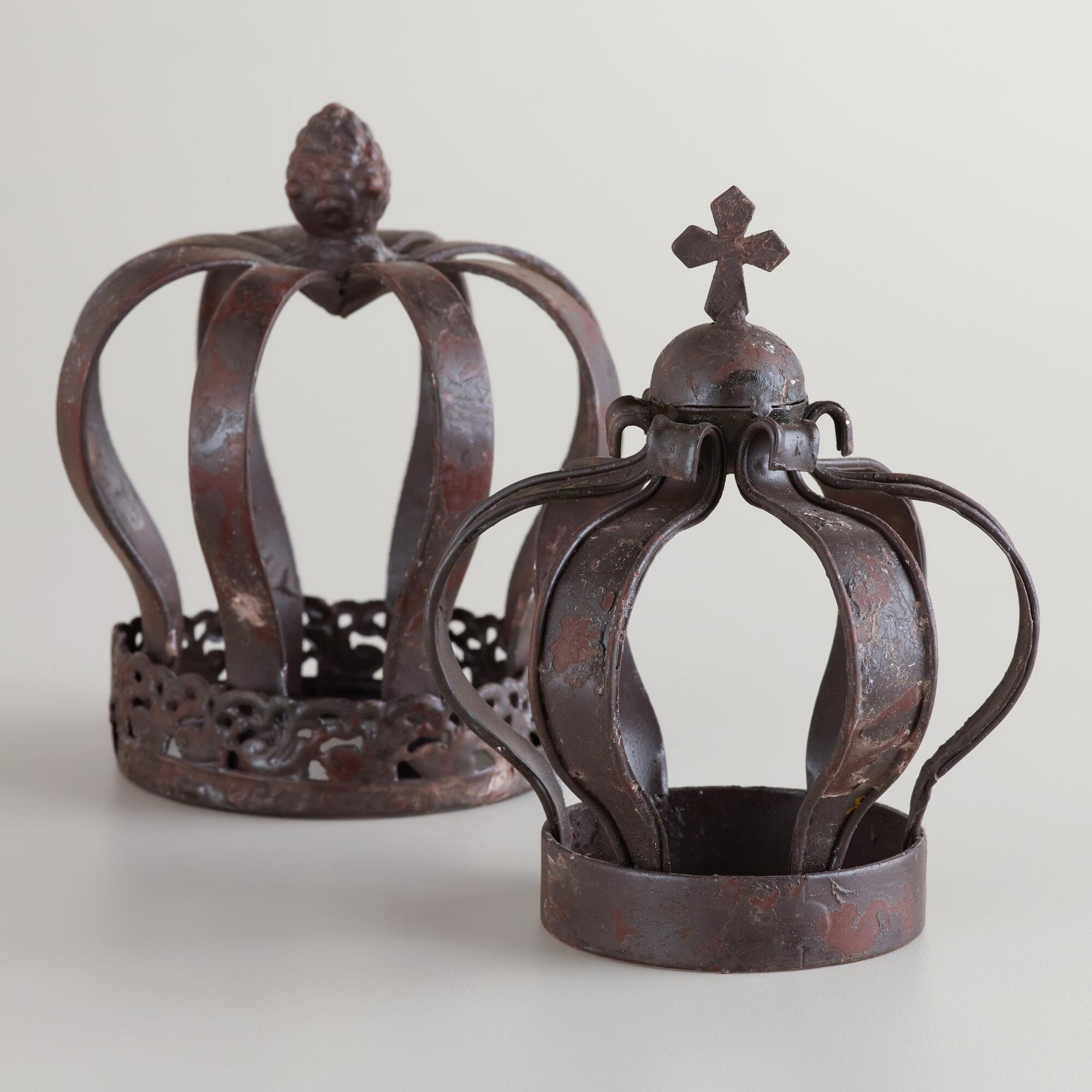 Decorative Crowns for Home Decor Fresh Small Metal Crown Decor Set Of 2