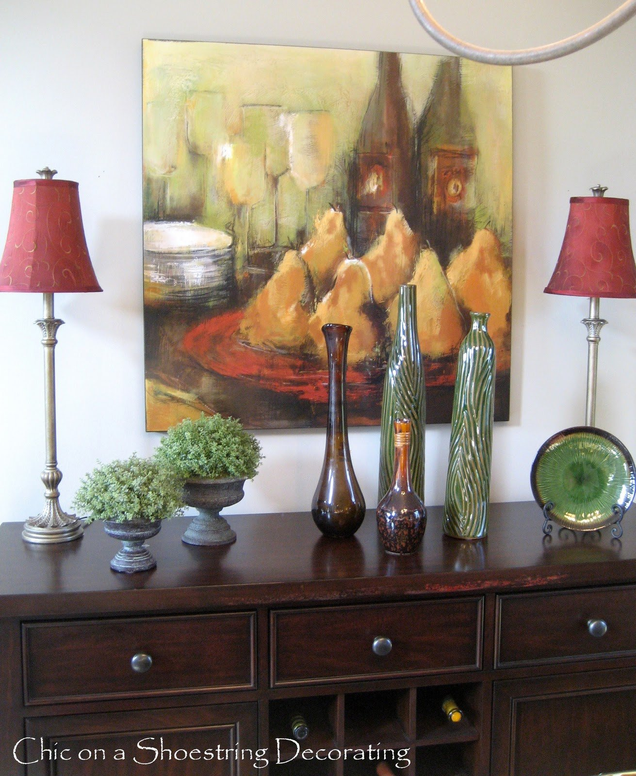Dining Room Buffet Decor Ideas Inspirational Chic On A Shoestring Decorating Dining Room Buffet Revisited