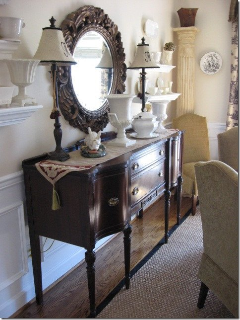 """Dining Room Buffet Decor Ideas Lovely A """"something S Gotta Give"""" Dining Room Makeover Hooked On Houses"""