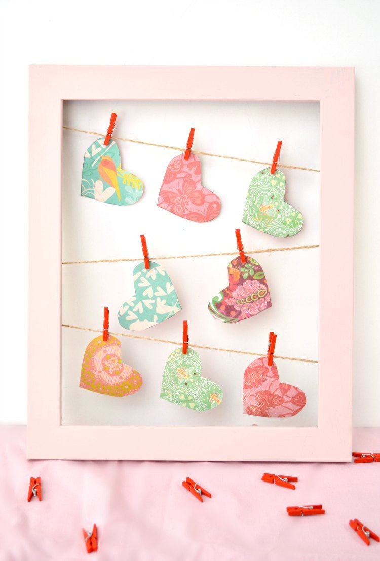 Diy Craft for Home Decor Awesome Valentine S Day Clothesline Heart Frame Decor Diy Craft Project