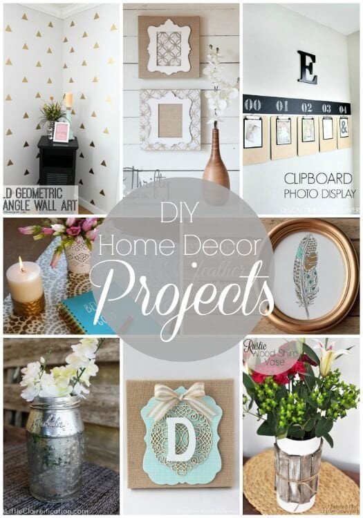 Diy Craft for Home Decor Unique 20 Diy Home Decor Projects Link Party Features I Heart Nap Time