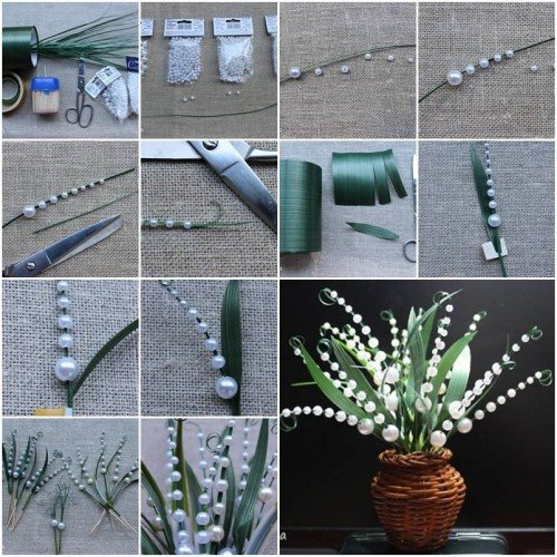 Diy Craft for Home Decor Unique How to Make Lily Of the Valley Step by Step Diy Tutorial Instructions
