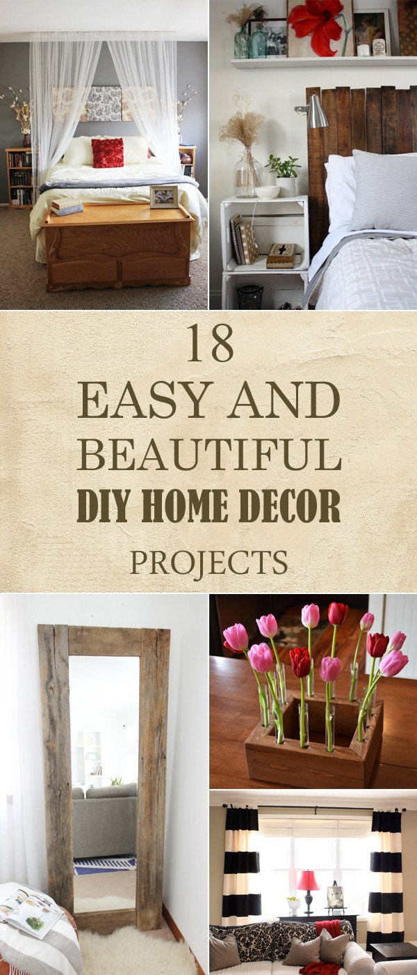 Diy Crafts for Home Decor Awesome 18 Easy and Beautiful Diy Home Decor Projects