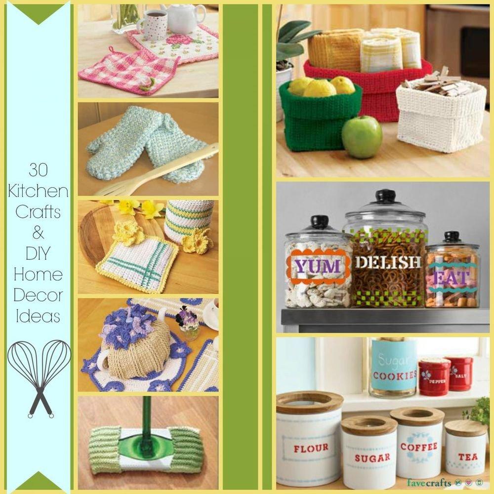 Diy Crafts for Home Decor Elegant 30 Kitchen Crafts and Diy Home Decor Ideas