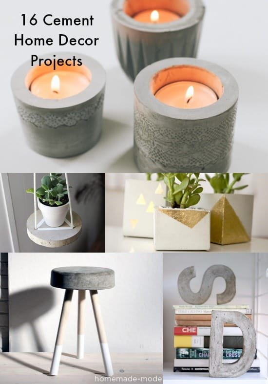 Diy Crafts for Home Decor Inspirational 16 Concrete Diy Projects for Home Decor Diycandy