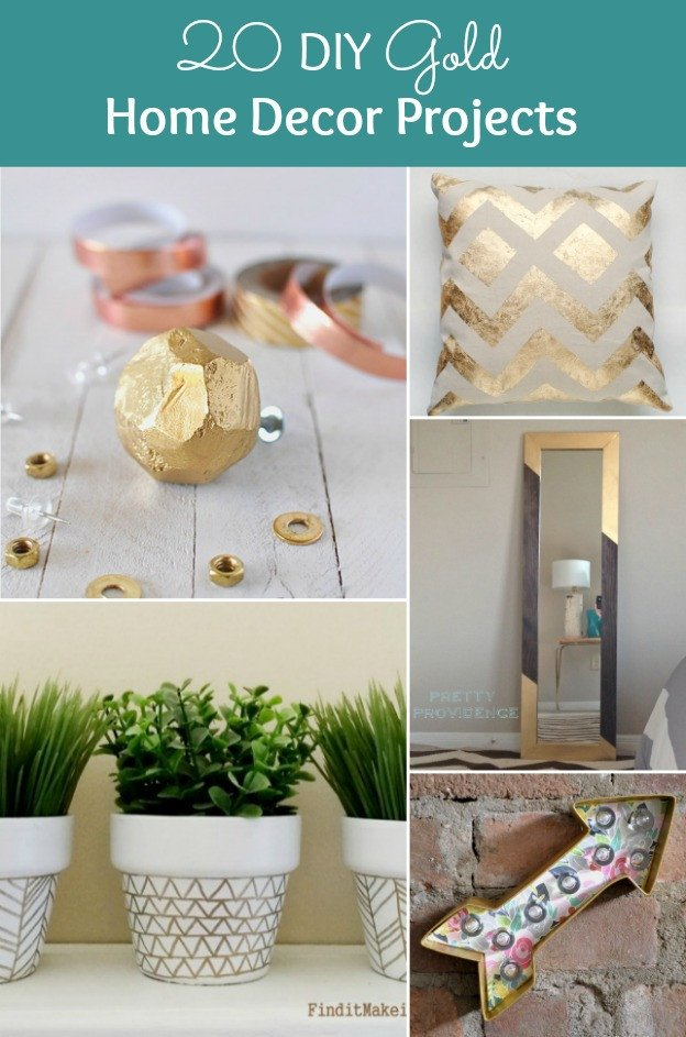 Diy Crafts for Home Decor Unique 20 Diy Gold Home Decor Projects