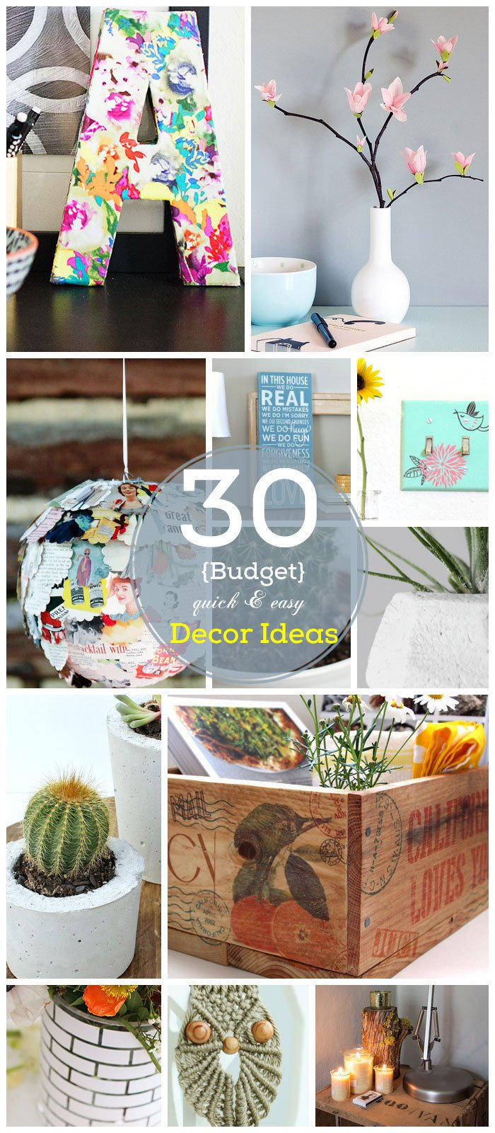 Diy Home Decor Ideas Budget Elegant 30 Diy Home Decor Ideas On A Bud
