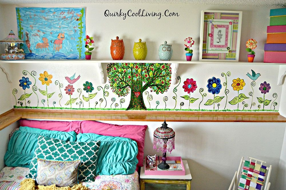 Diy Little Girls Room Decor New A Bohemian Inspired Mural for Little Girls Room