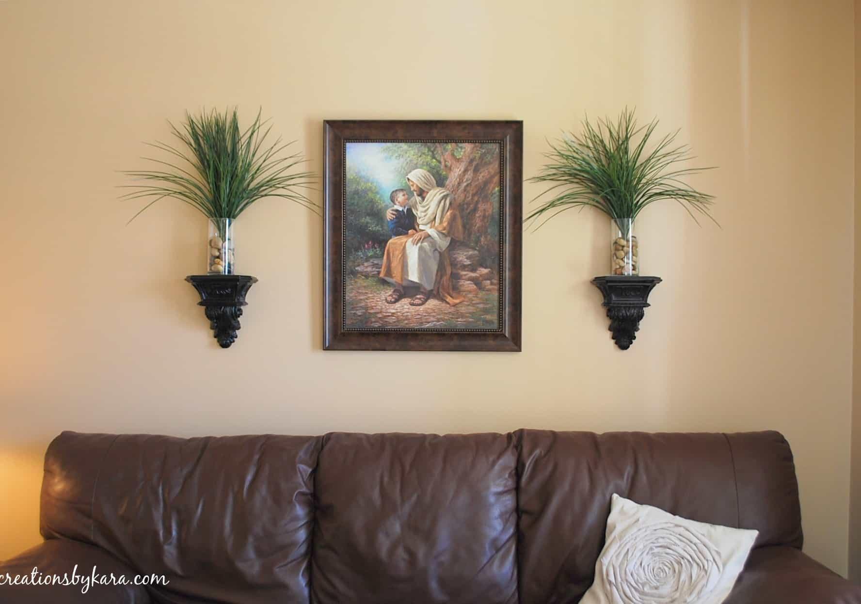 Diy Living Room Wall Decor Elegant Hanging Wood Trim In My Living Room