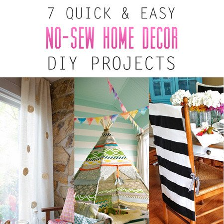 Diy Projects for Home Decor Beautiful 7 Quick and Easy No Sew Home Decor Diy Projects the Cottage Market