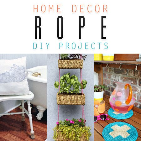 Diy Projects for Home Decor Beautiful Home Decor Rope Diy Projects the Cottage Market
