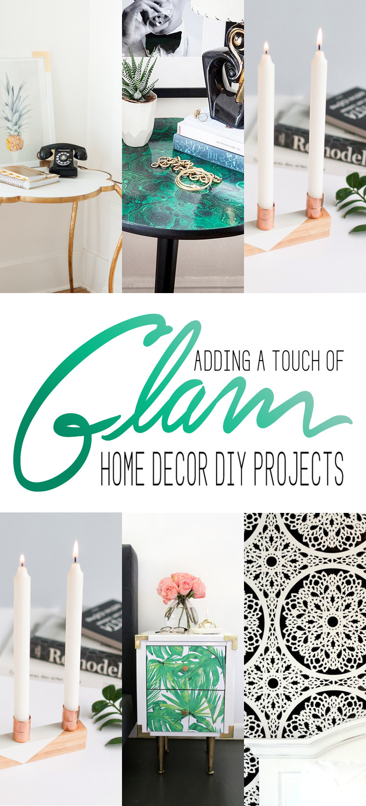 Diy Projects for Home Decor Fresh touch Of Glam Home Decor Diy Projects the Cottage Market