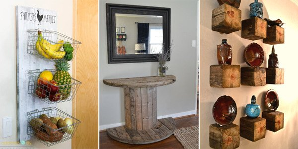 Diy Projects for Home Decor Unique 50 Rustic Diy Home Decor Projects