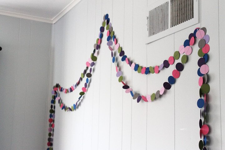 Diy Room Decor for Kids Elegant Diy Circle Garland A Cheap and Easy Kid S Room Decorating Idea