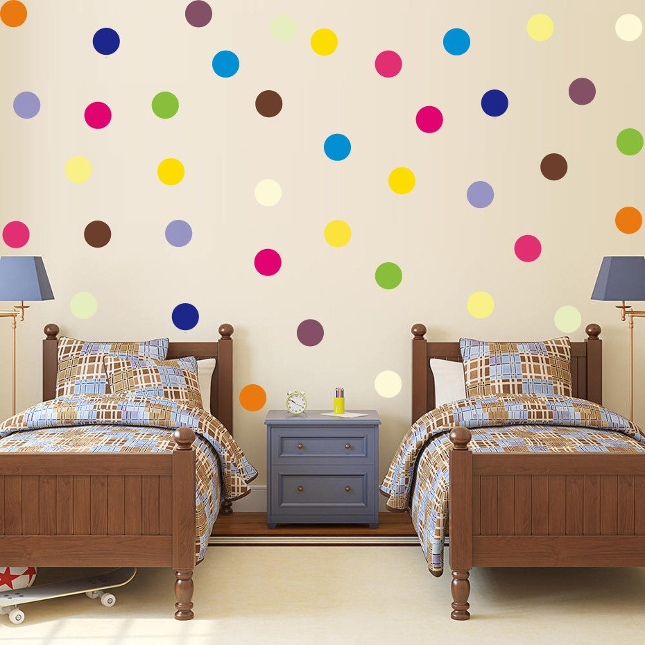 Diy Room Decor for Kids New 120 Pcs Multi Color Polka Dots Wall Stickers Diy Removable Confetti Vinyl Decals for Kids