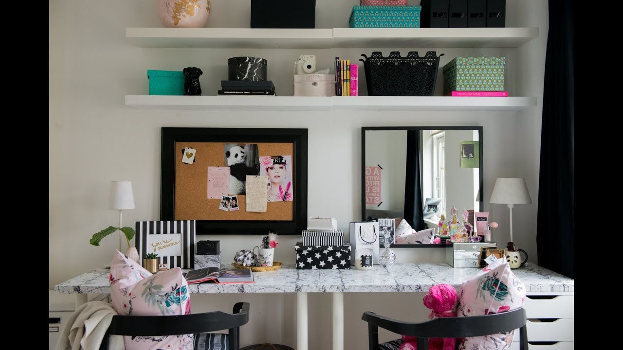 Diy Room Decor for Teens Elegant Teen Bedroom Makeover the Desk & Vanity Diy Room Decor