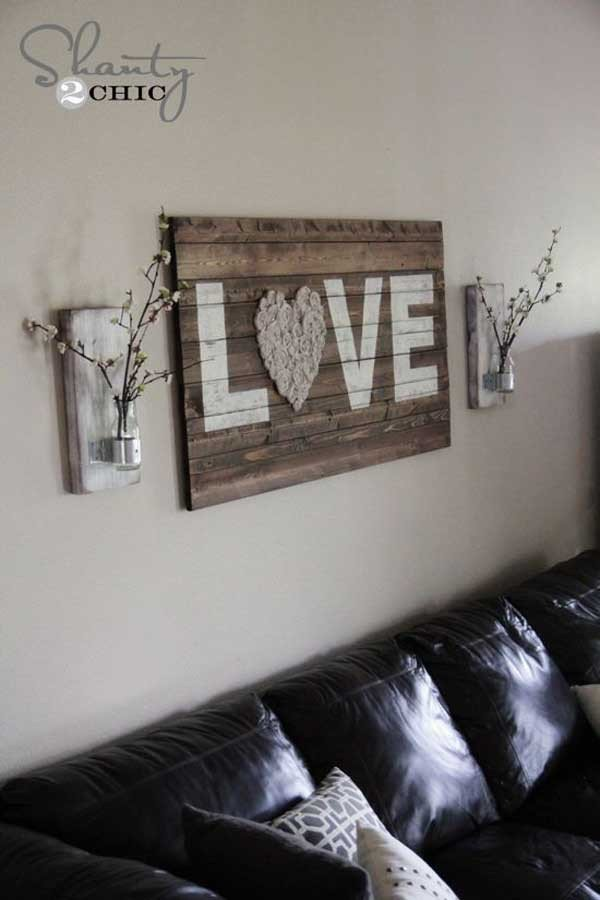 Diy Rustic Living Room Decor Best Of 20 Recycled Pallet Wall Art Ideas for Enhancing Your Interior