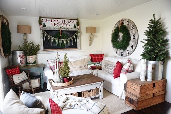 Diy Rustic Living Room Decor Luxury top Diy Rustic Christmas Decorating Ideas • the Bud Decorator
