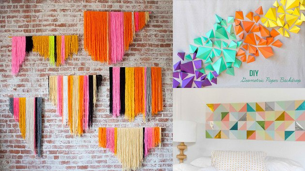 Diy Wall Decor with Pictures Fresh 20 Diy Geometric Wall Art Decorations for A Vivid Modern touch