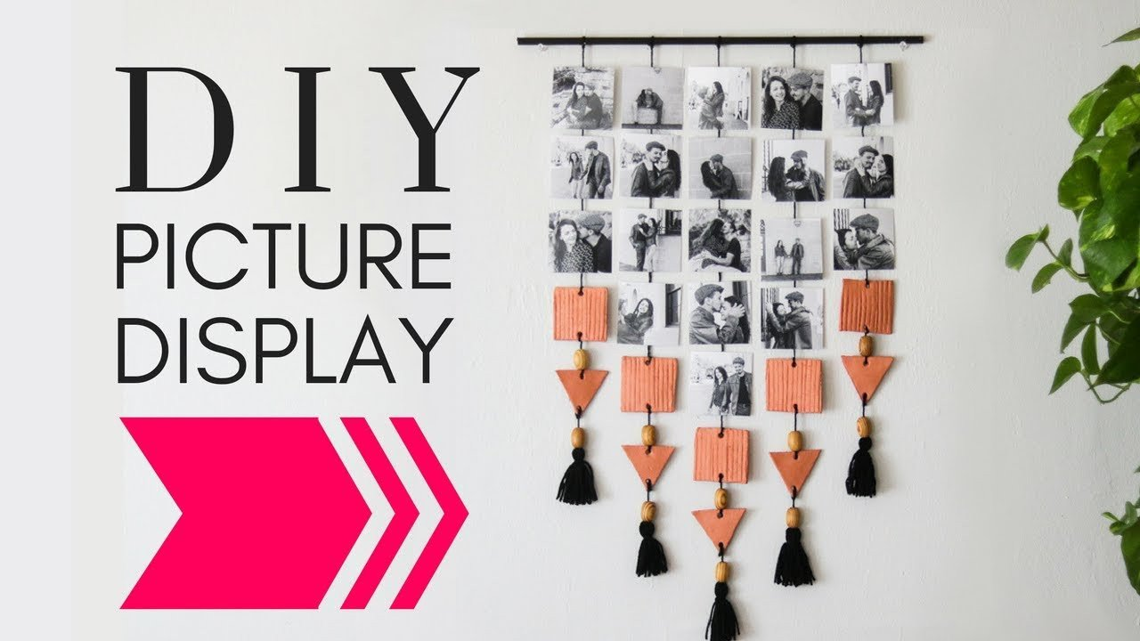 Diy Wall Decor with Pictures Luxury Diy Hanging Picture Display Wall Decor Diy Diy Wall Decor