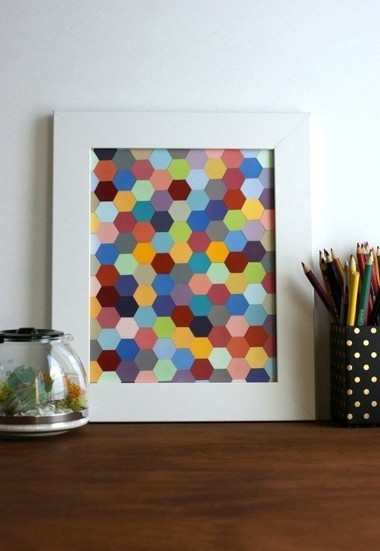 Diy Wall Decor with Pictures Unique Diy Hexagon Framed Art · How to Make Wall Decor · Home Diy On Cut Out Keep