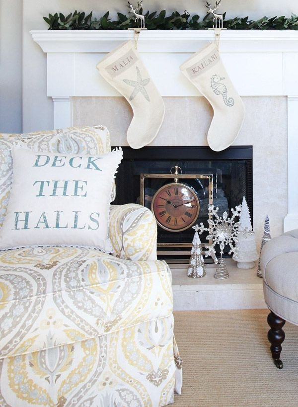 Diy Websites for Home Decor Luxury Es Nest Holiday Seashell Collection Stockings Accent Pillow Diy Faux Fireplace