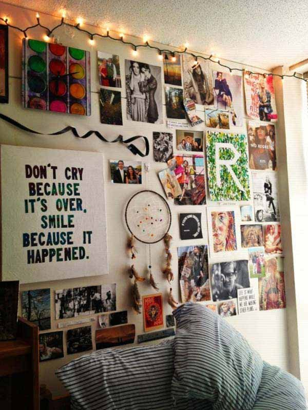 Dorm Room Wall Decor Ideas Inspirational top 24 Simple Ways to Decorate Your Room with S
