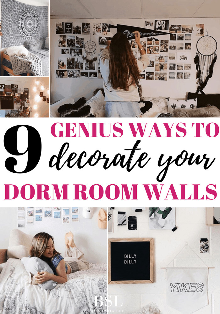 Dorm Room Wall Decor Ideas New 9 Genius Ways to Decorate Your Dorm Room Walls by sophia Lee