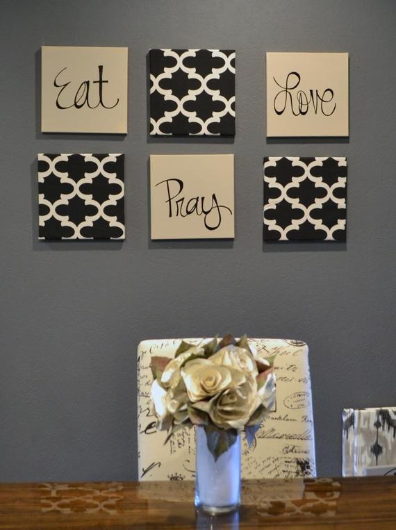 Eat Pray Love Kitchen Decor Fresh Eat Pray Love Wall Art Pack Of 6 Canvas Wall Hangings Hand