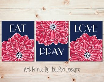 Eat Pray Love Kitchen Decor Lovely Modern Kitchen Wall Decor Eat Pray Love Trio Print Set 3