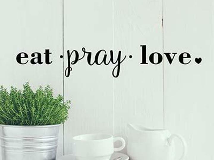 Eat Pray Love Kitchen Decor Luxury Eat Pray Love Kitchen Diner Cafe Religious Quote Vinyl Wall Decal Words