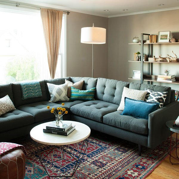 Eclectic Comfortable Living Room Awesome Eclectic Interior Design for Living Room Front Main