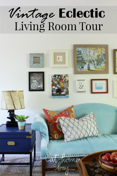 Eclectic Comfortable Living Room Awesome Our Vintage Eclectic Living Room tour