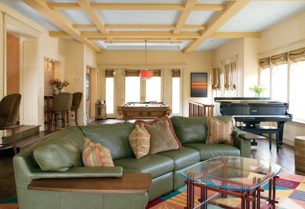 Eclectic Comfortable Living Room Beautiful Most fortable sofa Living Room Eclectic with asian Tufted area Rugs
