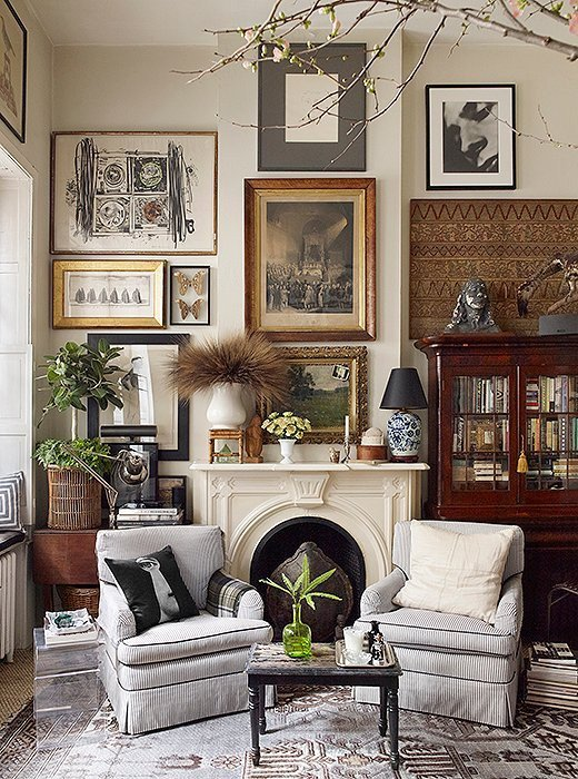 Eclectic Comfortable Living Room Elegant Michael Bastian Eclectic Living Room Decor E Kings Lane Scene therapy