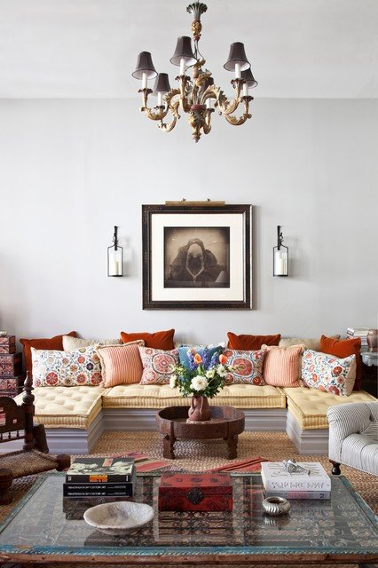 Eclectic Comfortable Living Room Lovely New York City Loft Eclectic Living Room New York by Deborah French Designs