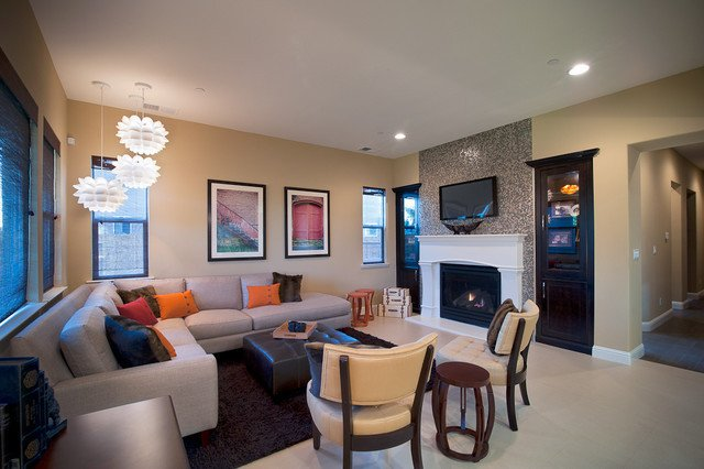 Mid Century Modern Eclectic Clean fortable Chic Modern Living Room san francisco