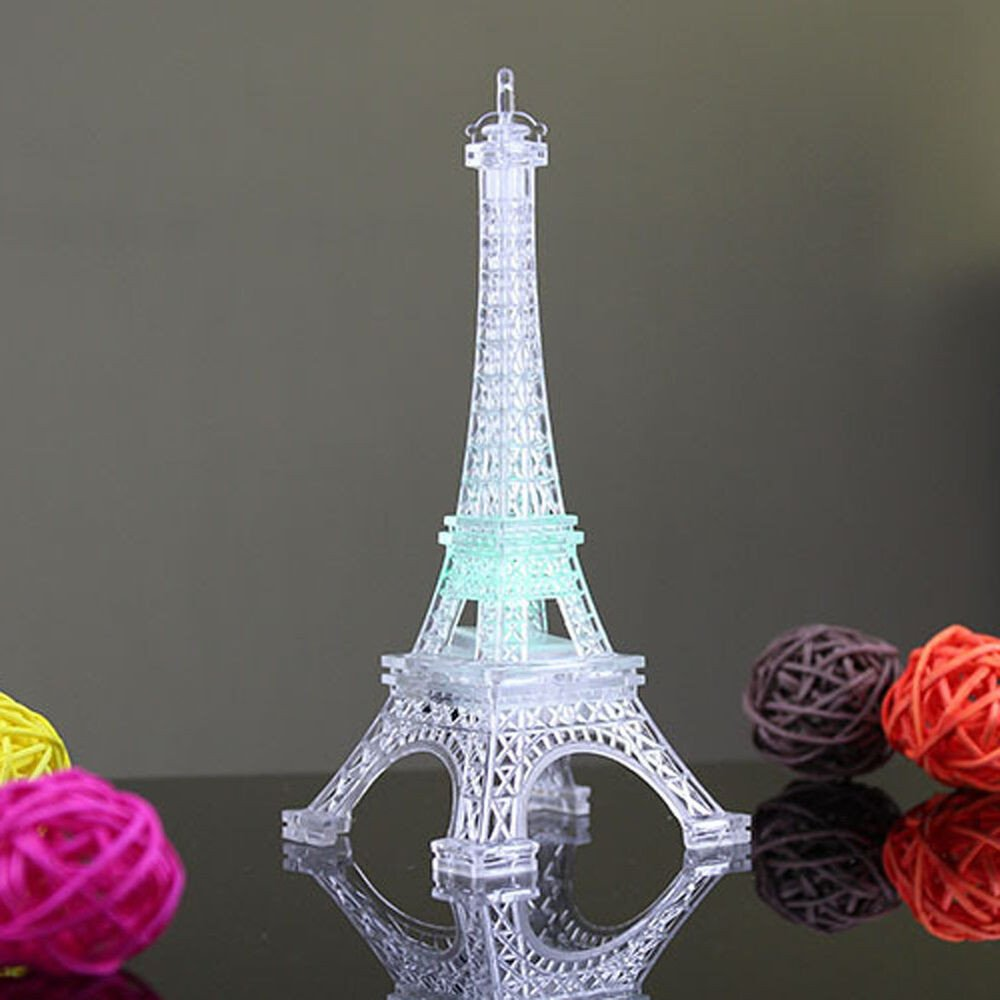 Eiffel tower Decor with Lights Awesome Eiffel tower Led Color Changing Night Light Wedding Bedroom Decorate Hot