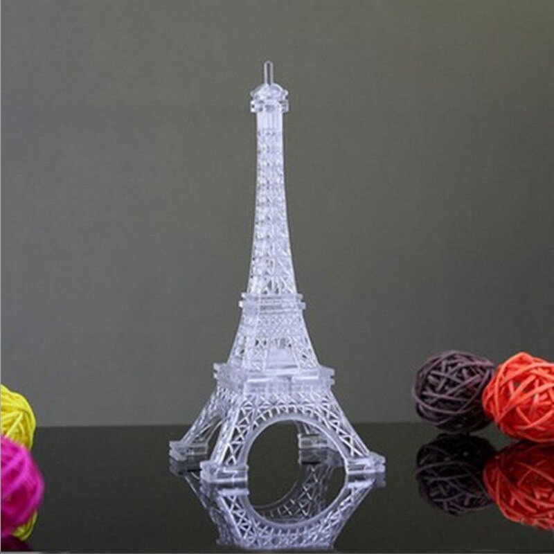Eiffel tower Decor with Lights Awesome Holiday Diy Decorations Romantic Eiffel tower Luminescent Color Changing Led Night Light Bedroom