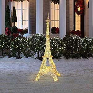 Eiffel tower Decor with Lights Beautiful Amazon Gemmy 5 05 Ft Eiffel tower Christmas Outdoor Decoration