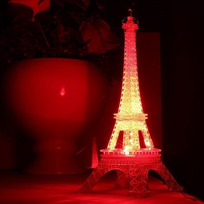 Eiffel tower Decor with Lights Best Of 25 5cm Led Colors Changing Eiffel tower Night Light Romantic Decorative Lights Decor Gift