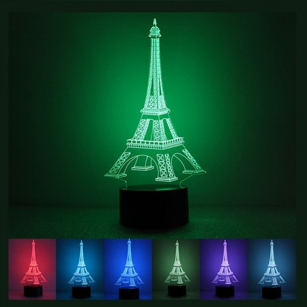 Eiffel tower Decor with Lights Best Of Creative 3d Eiffel tower Shape 7 Color Led Night Light Usb Table Desk Lamp Decor