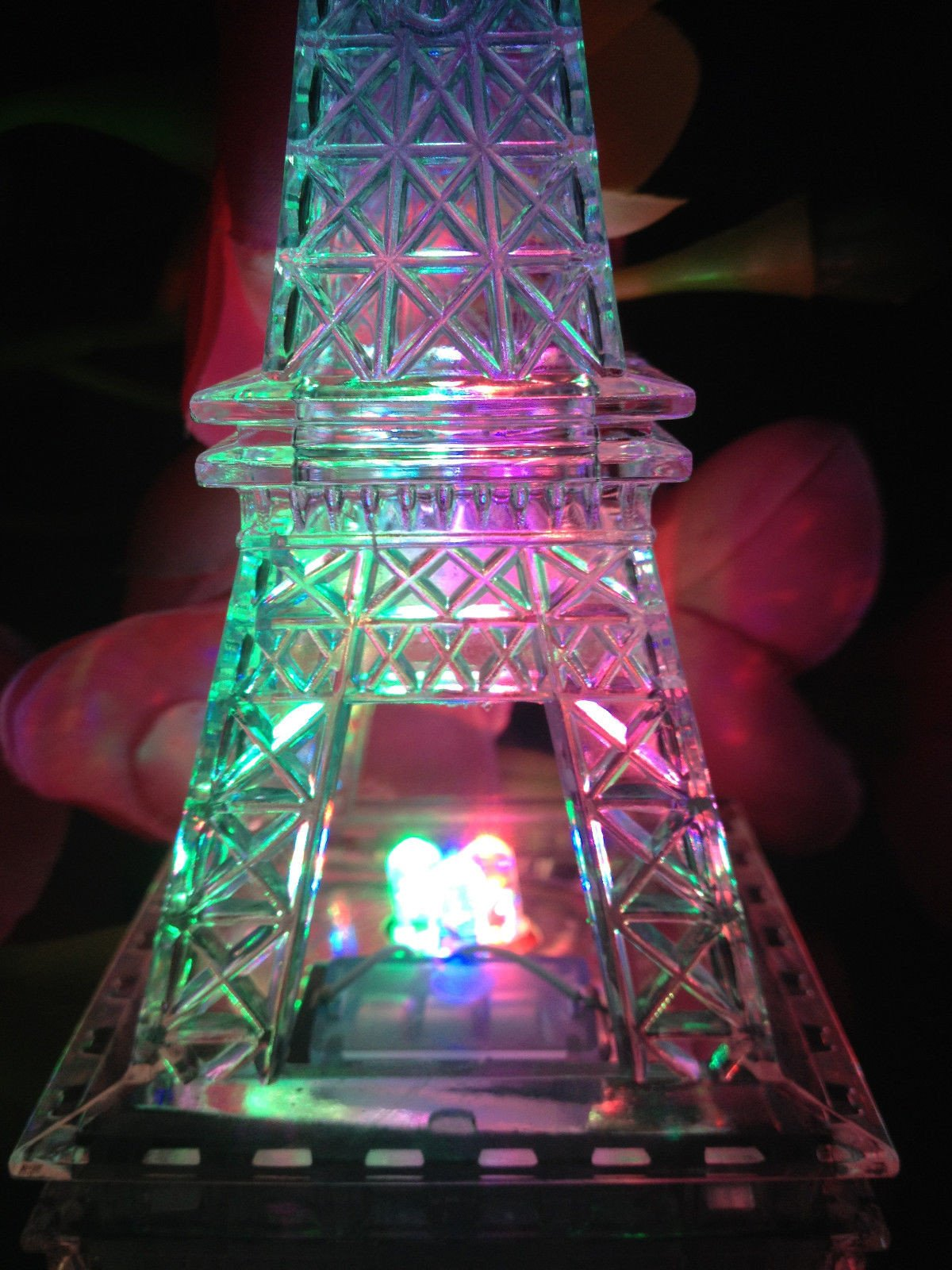 Eiffel tower Decor with Lights Inspirational 9 Inch Light Up Acrylic Led Eiffel tower souvenir W Build In Multicolor Led Lights Battery