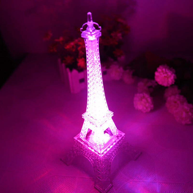 Eiffel tower Decor with Lights Lovely Eiffel tower Night Light Decoration Led Lamp Desk Bedroom Lighting
