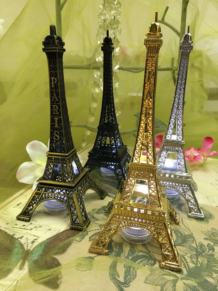 Eiffel tower Decor with Lights New Eiffel tower Paris Metal Stand Model Table Decor W Extra Led Waterproof Light
