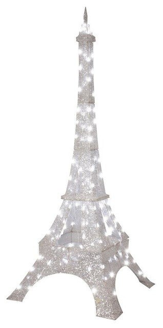 Eiffel tower Decor with Lights New Gemmy Crystal Eiffel tower Outdoor Twinkling Led Christmas Decoration Contemporary Holiday