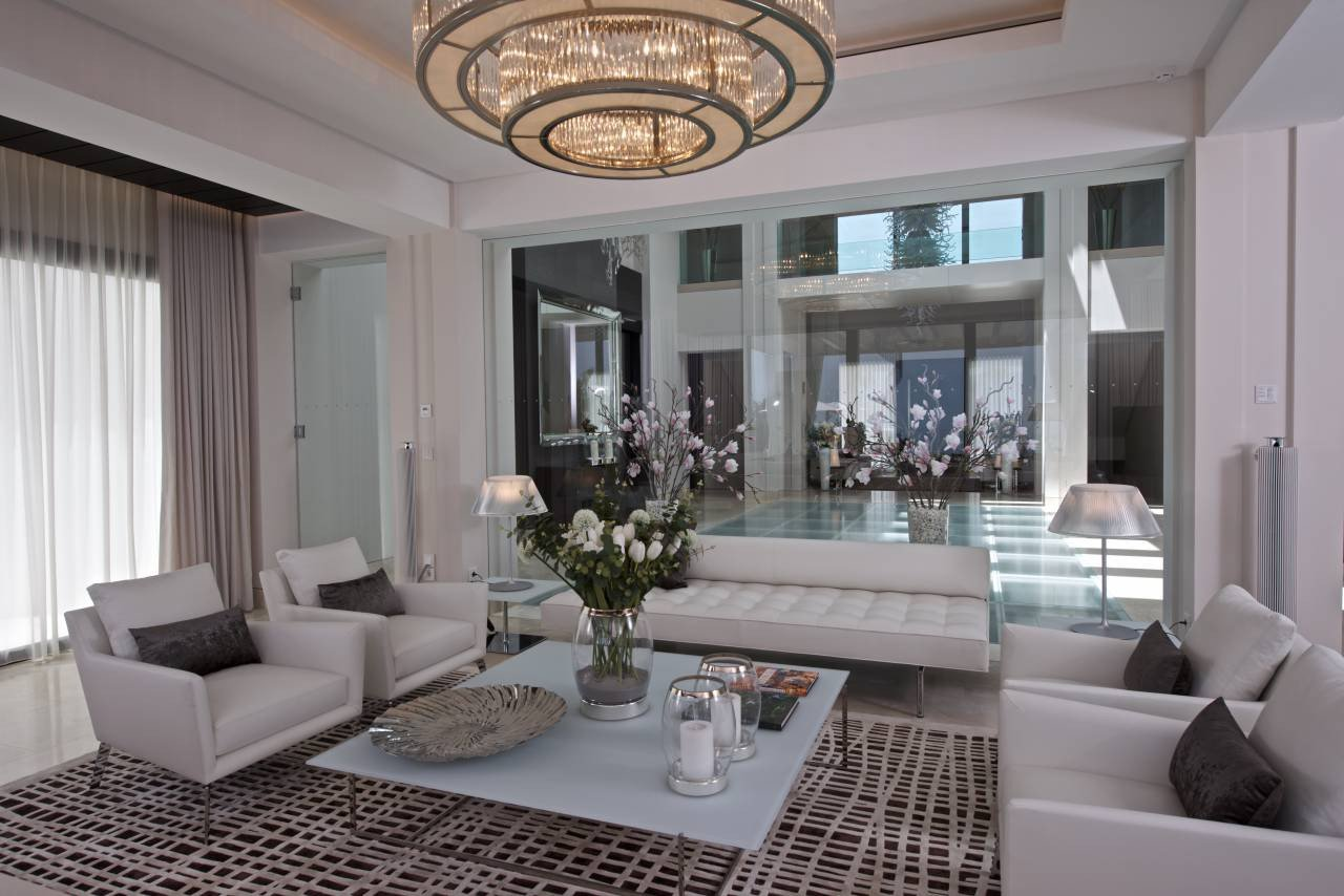 Elegant Contemporary Living Room Awesome Gallery